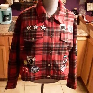 Hot Topic flannel plaid jacket